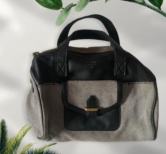 Vintage Fossil Tweed Black & White Handbag