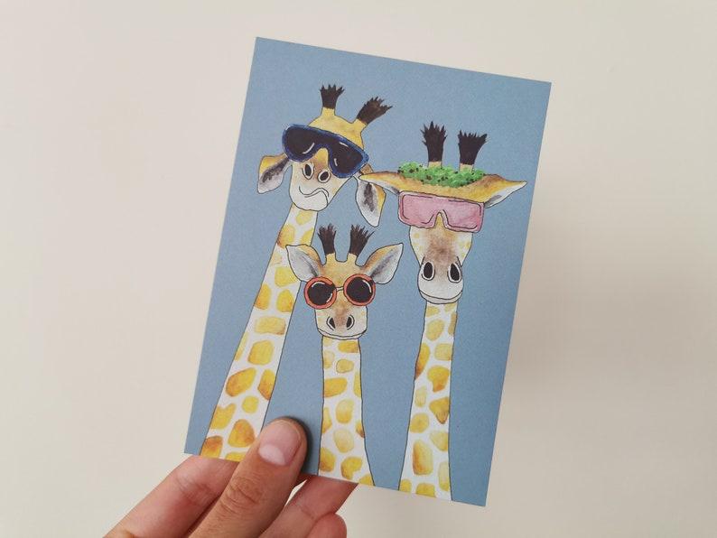 Ticket giraffes blue image 0