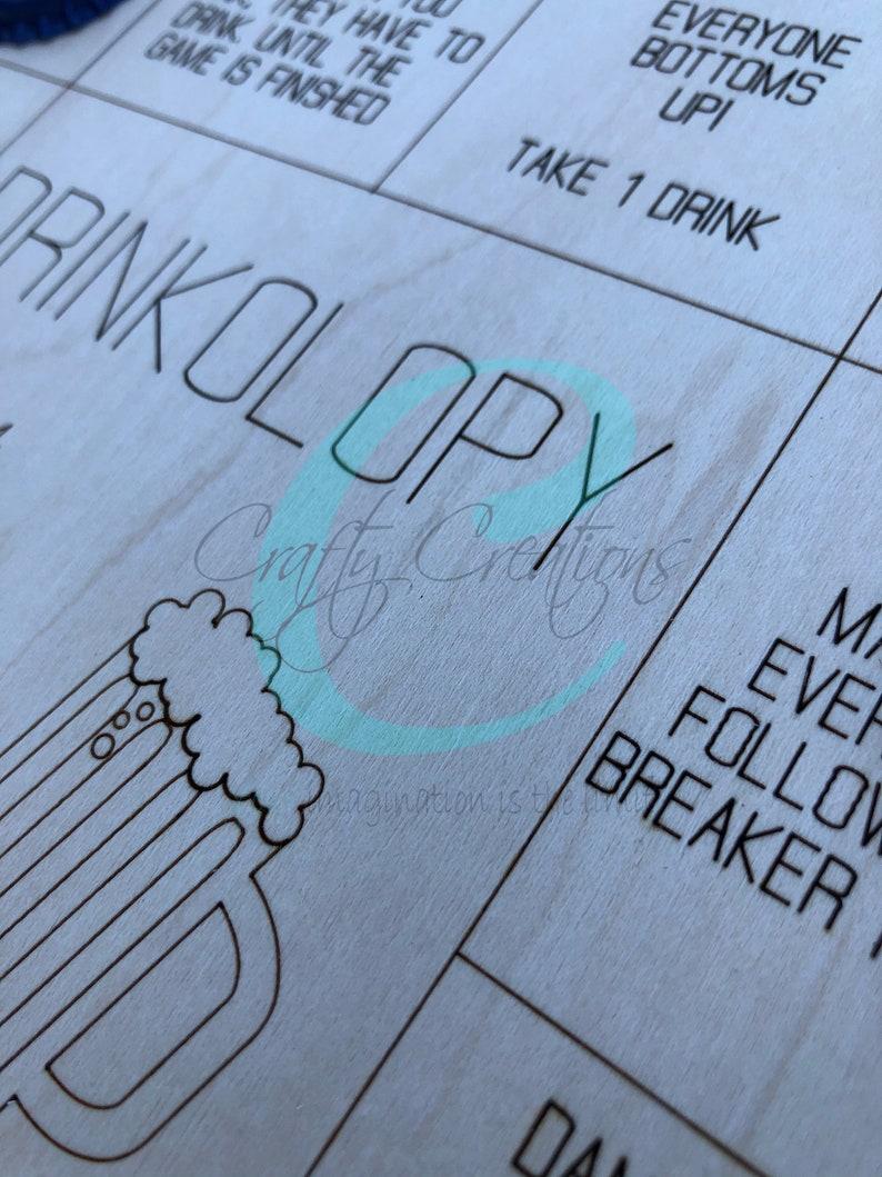 Drinkolopy Board Game SVG laser cut file ONLY