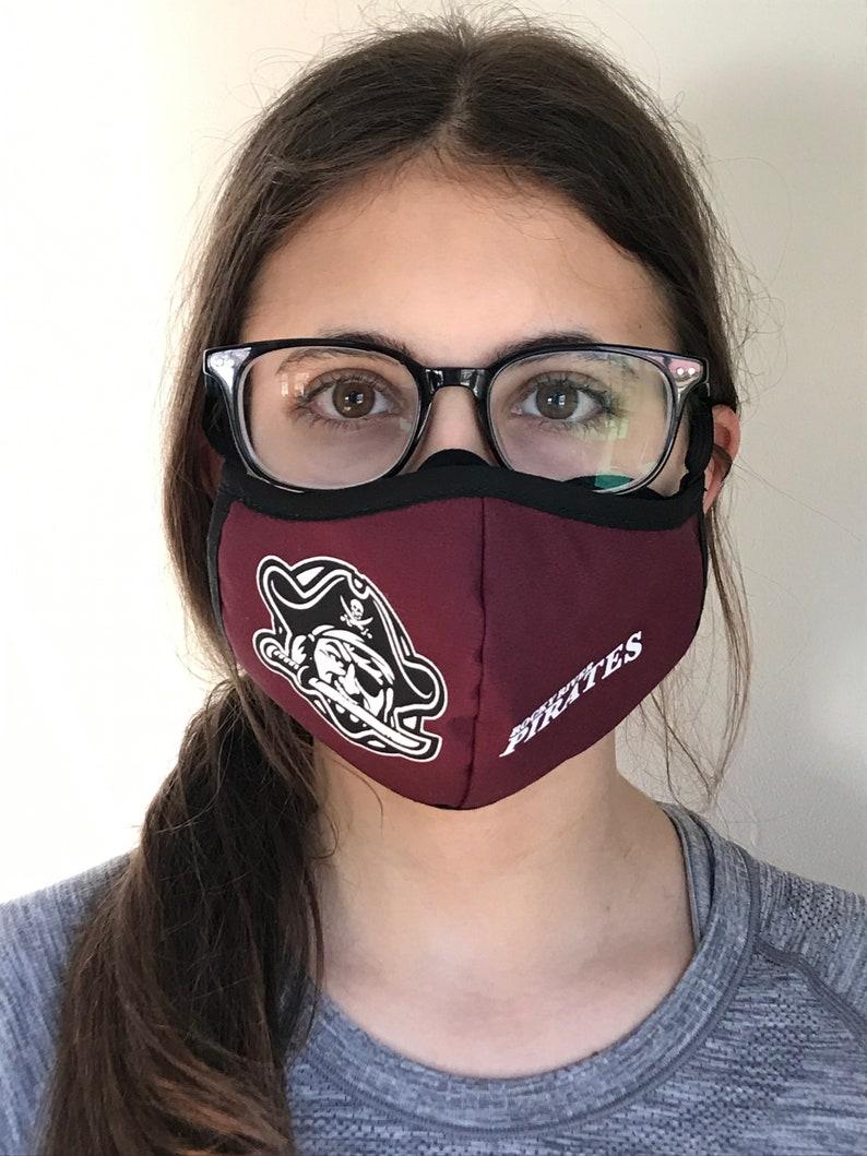Rocky River Pirates 'ANTI FOG' Hand Made Mask image 0