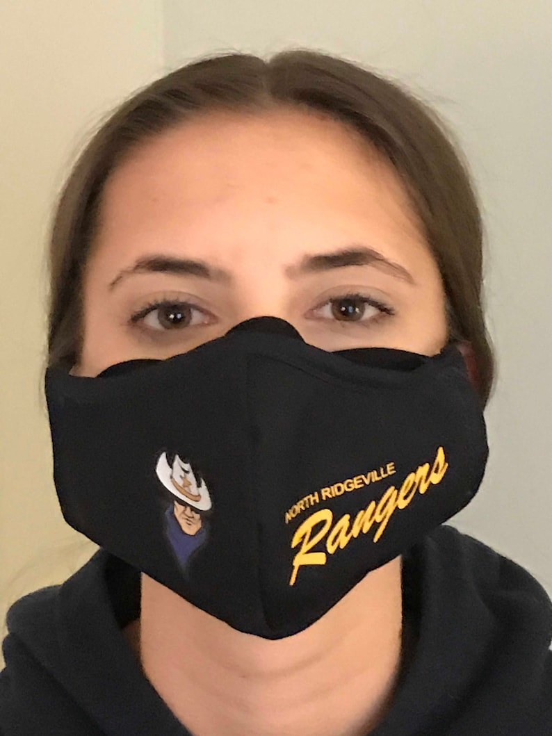 North Ridgeville Rangers 'ANTI FOG' Handmade Masks image 0