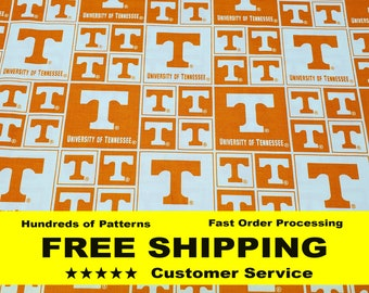 Tennessee Vols UT UTK Collegiate Home State 100/% Cotton Sykel Pattern 1208