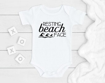 Baby Shower Present Funny Baby Gift Resting Baby Face RBF Baby Clothes Baby Gag Gift