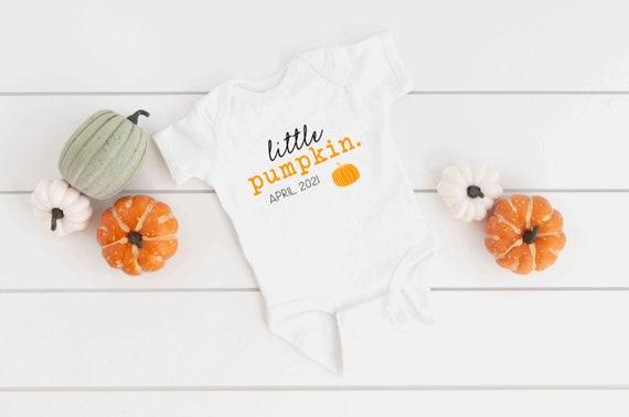 Little Pumpkin Pregnancy Announcement ONESIE® Fall Baby