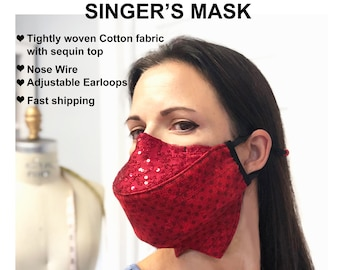 Singers Masks -3D -Adjustable -Fashionable -Great for performers or speakers - Ships Fast