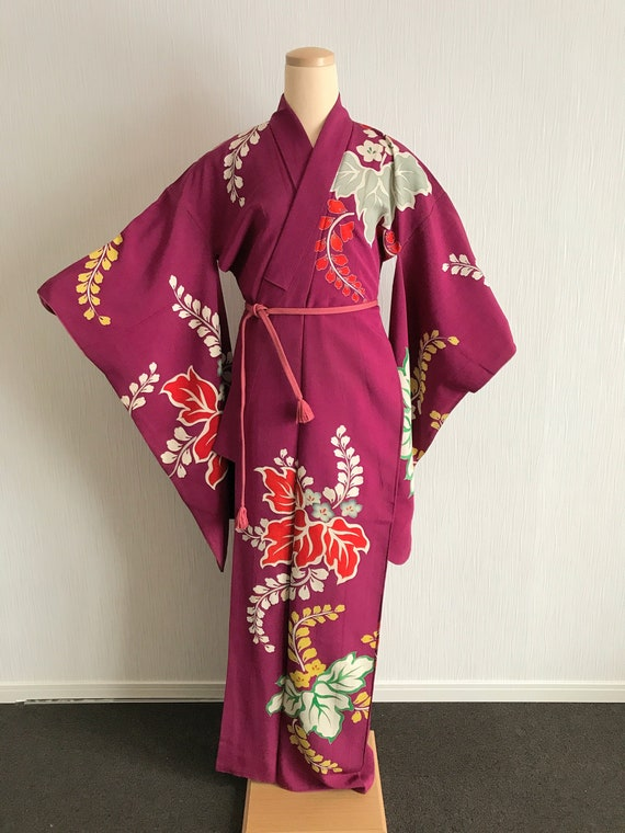 Vintage Japanese kimono -  Antique georgeous kimon