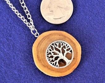 Wood Jewelry, Wood Pendant, Wood Necklace, Wooden Pendant, Wooden Necklace, Driftwood Necklace , Tree of Life , JK349