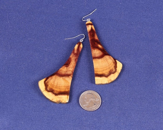 Featured listing image: Unique Handmade Wood Jewelry, Wood Earrings, JK230