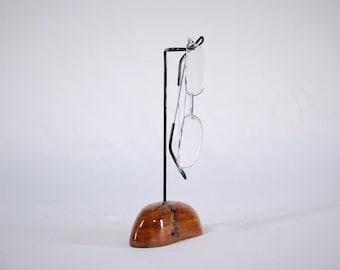 Natural Wood Eyeglass Glasses Holder,