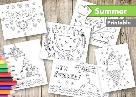Summer Coloring Pages Printable Adult and Kid Coloring