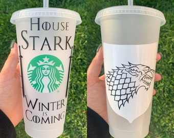Game of Thrones House Targaryen Starbucks Reusable Venti Iced Cold Cup