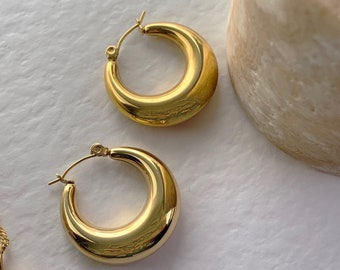 Lot of 2 Creole Rings Shape Ancient Bronze Hoops