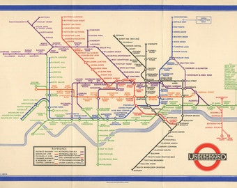 A3 /& A2 Sizes Minimalist Artwork London Underground Tube Map Poster