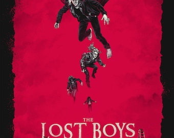 The Lost Boys Classic Retro Movie Poster ,  Cult Posters in Different Sizes
