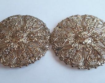0144 Design clasp, decorative clasp, old gold