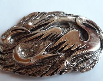0141 Design clasp, decorative clasp, silver silver with 5 krist. Rhinestones