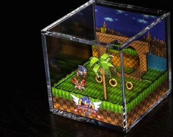 Sonic The Hedgehog Diorama Cube