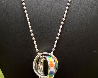 LGBTQ Pride Rainbow Charm Necklace