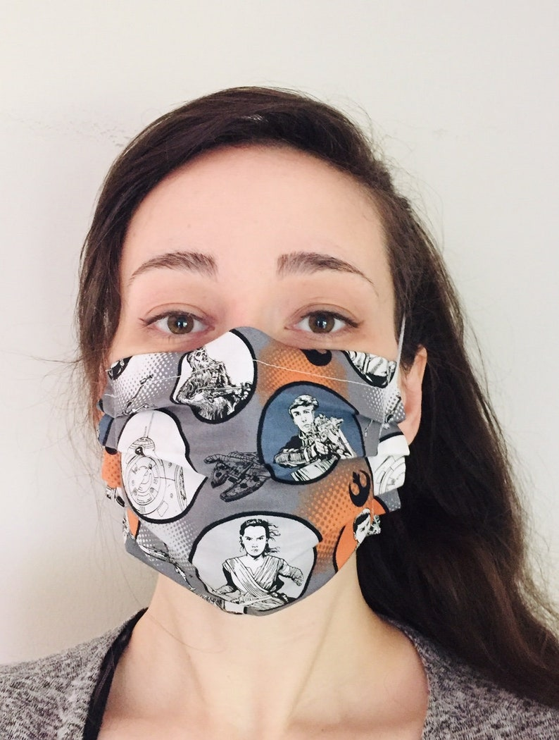 Star Wars Rebels 100% Cotton surgical face mask sewn in image 0
