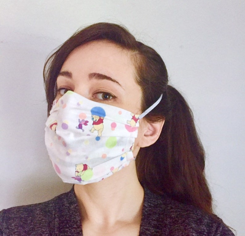 Winnie the Pooh Piglet 100% Cotton surgical face mask image 0