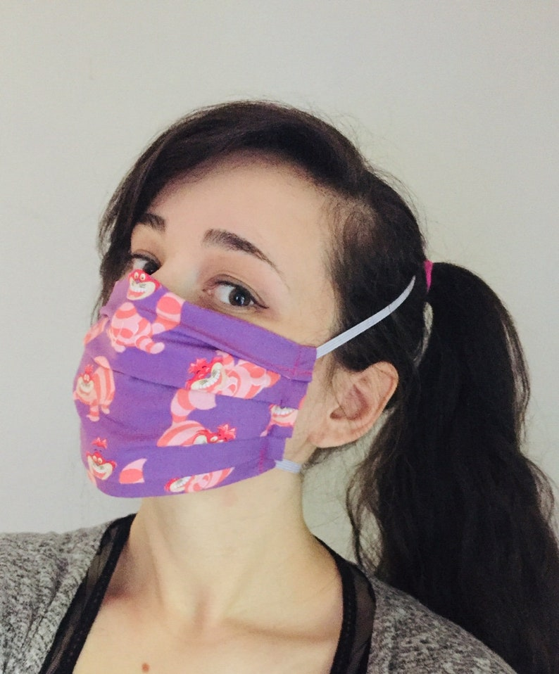 Disney's Cheshire Cat 100% Cotton surgical face mask image 0