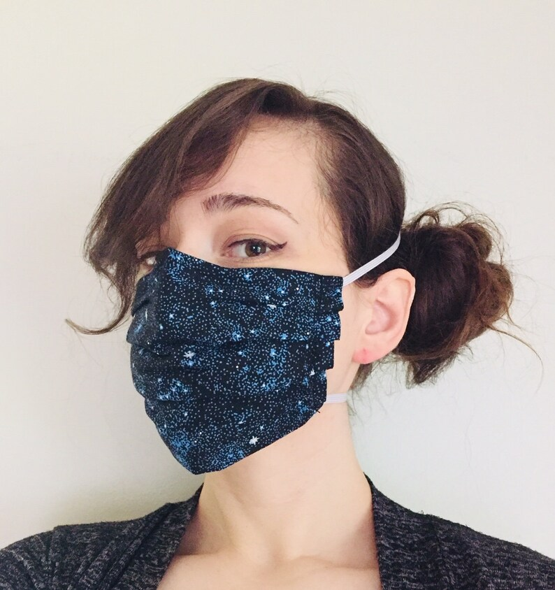 Galaxy Stars 100% Cotton surgical face mask w/ reusable filter image 0