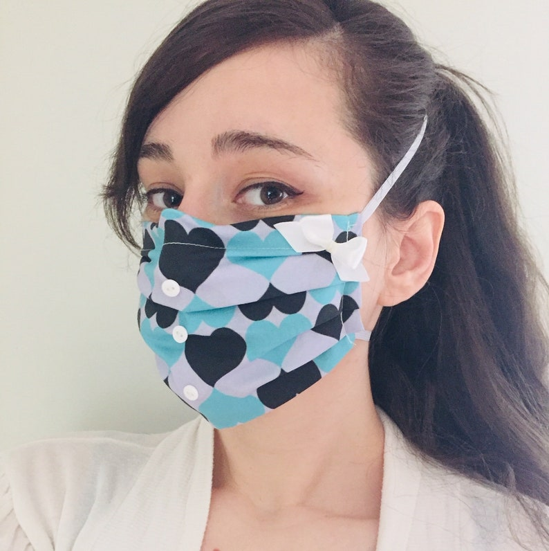 Alice in Wonderland 100% Cotton surgical face mask sewn in image 0