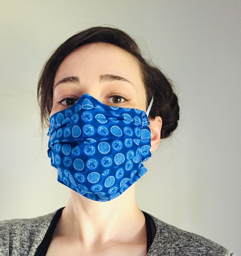 Spider-Man Blue 100% Cotton surgical face mask sewn in image 0