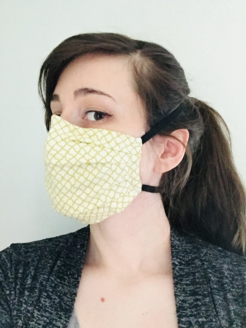100% Cotton surgical face mask with reusable filter pocket image 0