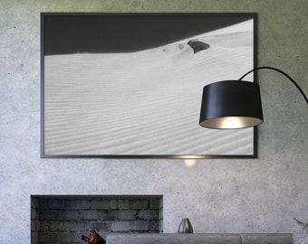 Desert Dune Framed poster, Abstract wall art, Beach Home Decor, Surf art, Arid landscape, Wind Shaped Sand Hanging decoration, Coastal Print
