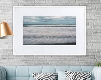 Sea Wave Matte Paper Framed Poster With Mat Ocean Sea home decor photograph nature landscape beach wall surf art frame print set abstract