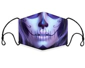 Skull Mask,Day of the Dead Face Mask, Sugar Skull Face Mask, Reusable and Washable Face Mask with Filter Pocket,Made in USA