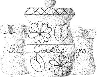 Cookie Coloring Page Etsy