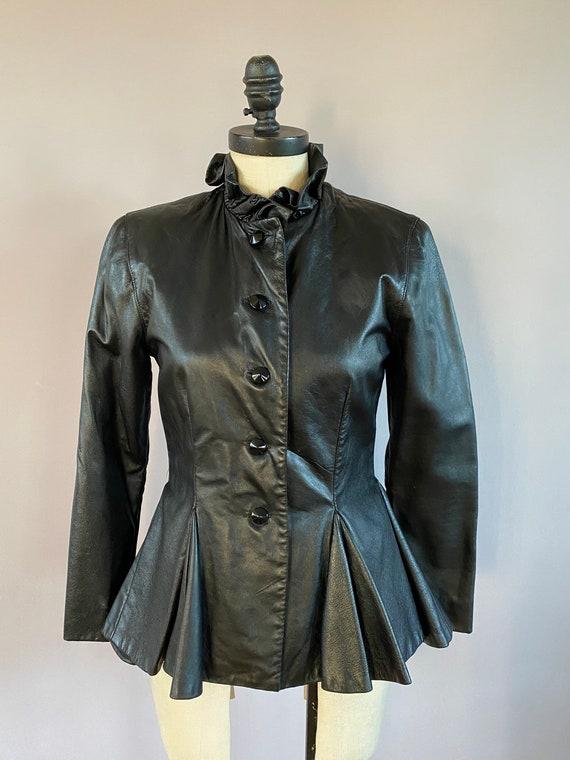 Size S. Custom made vintage Jerri Frenell leather jacket