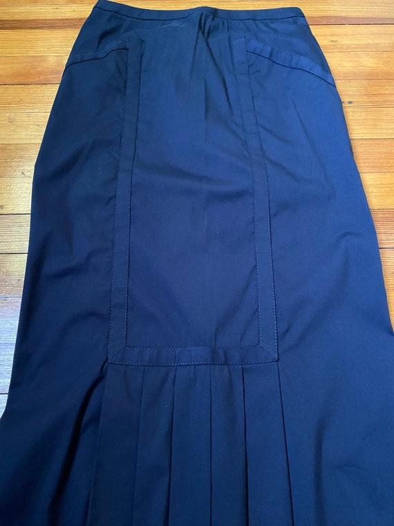 Vintage Prada Mermaid maxi skirt. Gorgeous pleats… - image 4