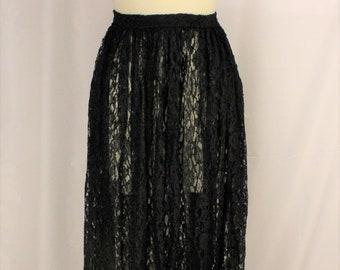 JET BLACK SATIN Full Length Fishtail Mermaid Skirt~Jacques Tchong Sydney Australia~GothicFormalMorticiaFetishMistress~