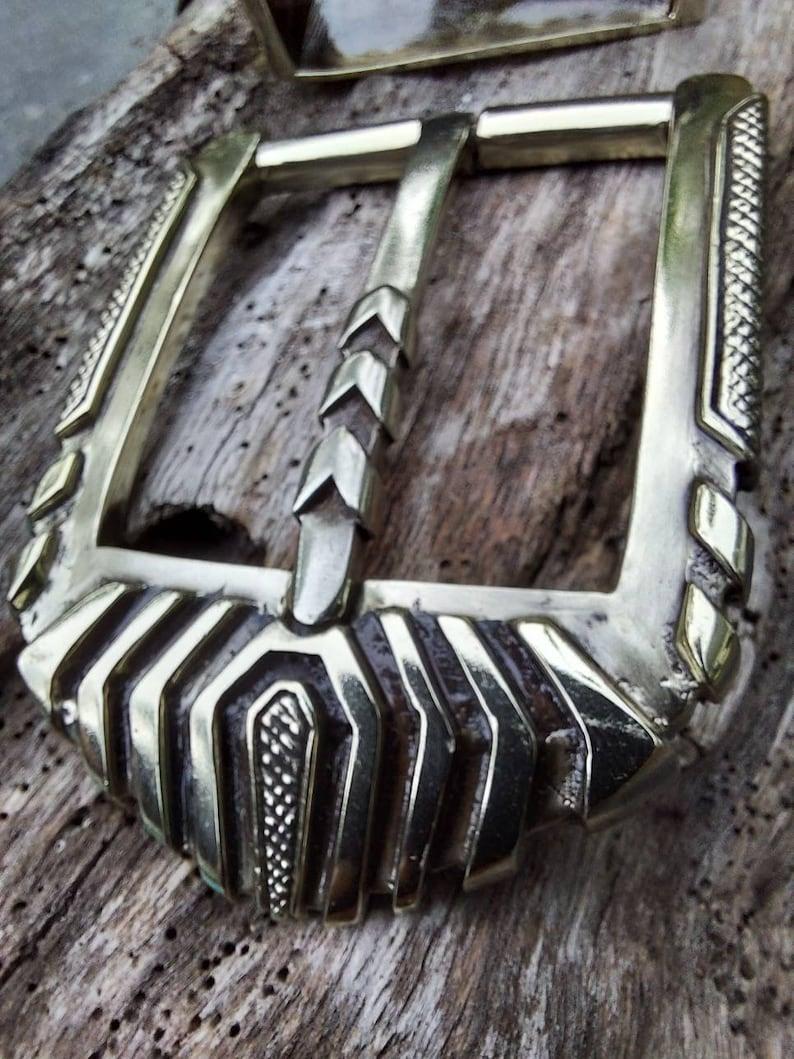 Unisex Belt Biker Belt silver buckle  buckle black silver belt Studded Belt Belt buckle Artisan belt