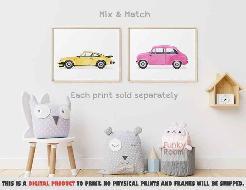 Transportation Print Cars Kids Decor Playroom Art Automotive Printable Art Boy Transport Prints Vehicle Art Print Classic Car Wall Art