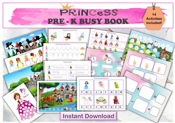 Preschool Busy book Princess themed busy book Learning
