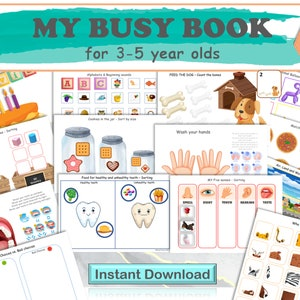 Kindergarten Activity Download Name and Age page Spell My Name Binder Cover Printable Busy Book Page Pre-K Name Spelling Worksheet