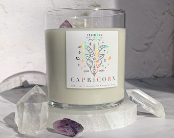 Home Decor Candle Night Violet Iridescent Candle Soy Candle Vegan Candle