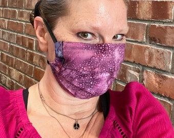 PURPLEHAZE 2-Ply Batik Cotton Face Mask with Filter Pocket and Nose Wire