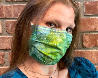 MOJITO 2-Ply Batik Cotton Face Mask with Filter Pocket and Nose Wire