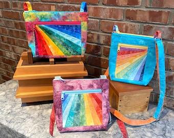 PDF Pattern: Julicita Rainbow Crossbody Bag in 3 shapes & sizes