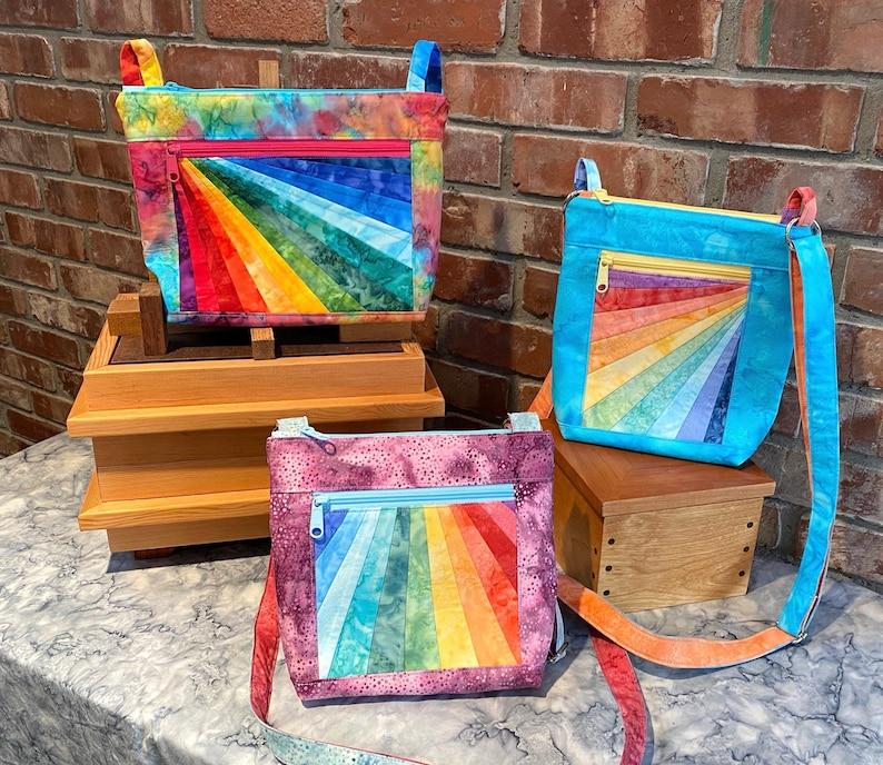 PDF Pattern: Julicita Rainbow Crossbody Bag in 3 shapes & image 0