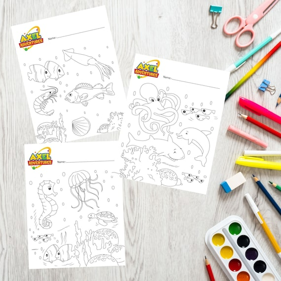 Coloring Sheets for Toddlers Sea world Colouring In Sheets