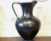 Reproduction Of Oinochoe Etruscan Vase in Bucchero
