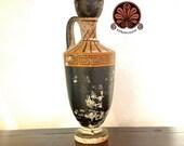 Reproduction vase Lekythos attica.height 17.5 cm