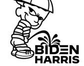 Calvin Piss on Biden Harris Vinyl Decal