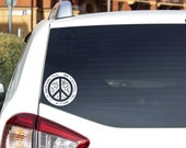 Peace Sign Vinyl Decal - Various colors available